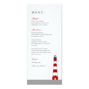 Lighthouse Wedding Menu Card 4