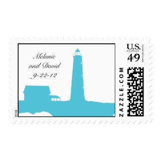 Lighthouse wedding postage
