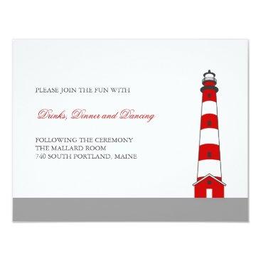 marlenedesigner Lighthouse Wedding Reception Card
