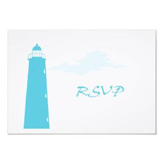 Lighthouse wedding RSVP Custom Announcements