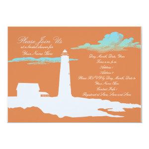 Lighthouse wedding/shower invitation 5