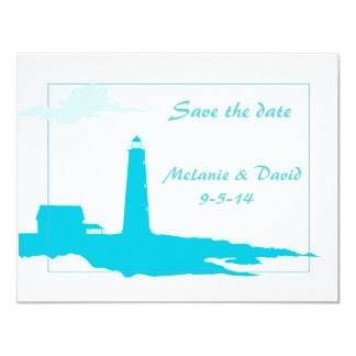Lighthouse wedding/shower save the date invites