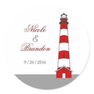 Lighthouse Wedding Sticker sticker