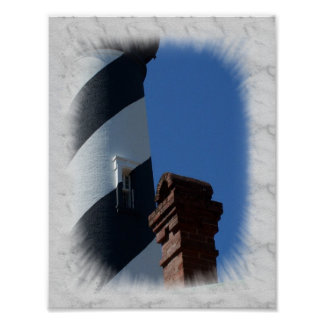 Lighthouse Window Poster