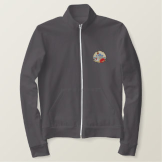 Lighthouse with Crab Embroidered Jacket