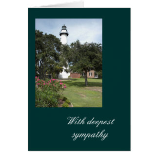 Lighthouse With Deepest Sympathy Card