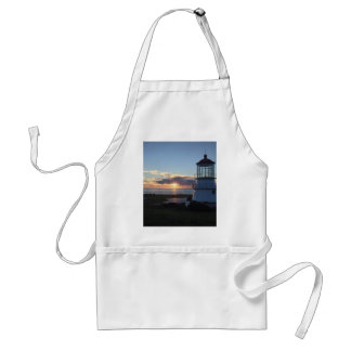 Lighthouse With Fall Sunset Lost Coast California Adult Apron