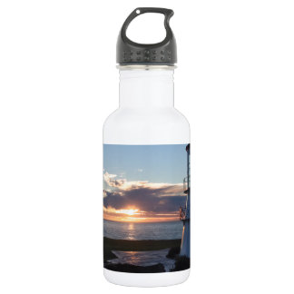 Lighthouse With Fall Sunset Lost Coast California Water Bottle