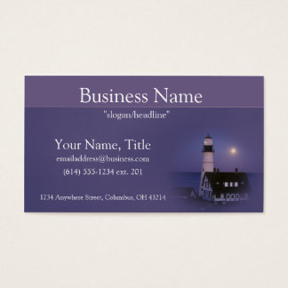 Lighthouse with Morning Sky Business Cards