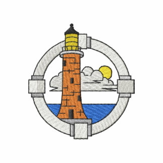 Lighthouse with Portal Embroidered Hooded Sweatshirt