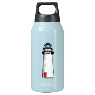 Lighthouse with Red Door Insulated Water Bottle