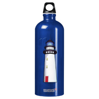 Lighthouse with Red Door Water Bottle