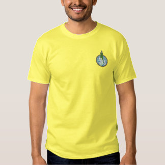 Lighthouse with Waves Embroidered T-Shirt