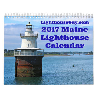 LighthouseGuy.com 2017 Maine Lighthouse Calendar