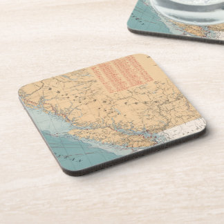 Lighthouses and Sailing Routes of British Columbia Beverage Coaster