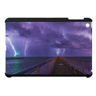 Lighthouses in a Thunderstorm with Purple Rain Case For The iPad Mini