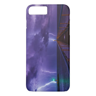 Lighthouses in a Thunderstorm with Purple Rain iPhone 8 Plus/7 Plus Case