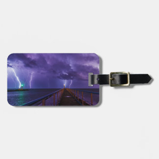 Lighthouses in a Thunderstorm with Purple Rain Luggage Tag