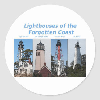 Lighthouses in Florida Classic Round Sticker