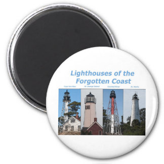 Lighthouses in Florida 2 Inch Round Magnet