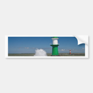 Lighthouses in Warnemuende Bumper Sticker