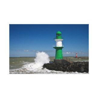 Lighthouses in Warnemuende Canvas Prints