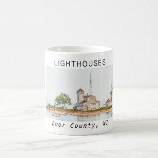 Lighthouses of Door County Coffee Mug