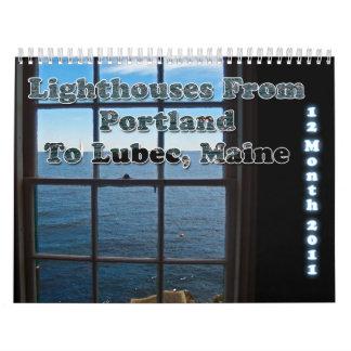 Lighthouses Of Maine 2011 Calendar
