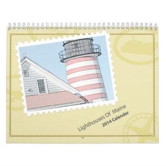 Lighthouses Of Maine 2014 Calendar