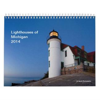 Lighthouses of Michigan 2014 Wall Calendar