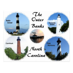 Lighthouses Of The Outer Banks Postcard at Zazzle