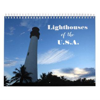 Lighthouses of the U.S.A. in Photographs Calendar