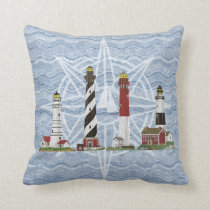 """Lighthouses"" Throw Pillow"