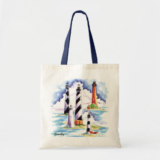 Lighthouses tote budget tote bag