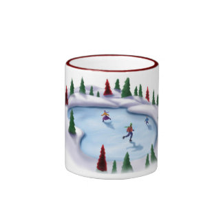 Lightin encima del hielo taza