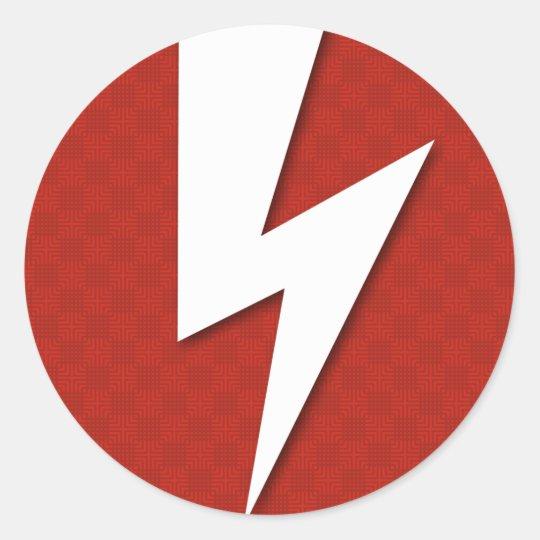 Lighting Bolt Classic Round Sticker