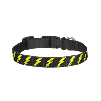 Lighting Bolt Dog Collar Black