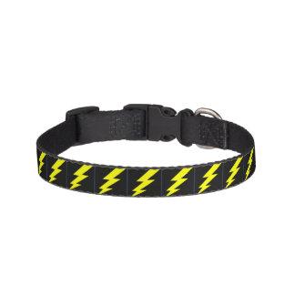 Lighting Bolt Dog Collar Black