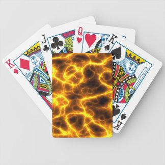 Lighting Bolt Flames Design Card Deck