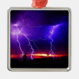 lighting bolts metal ornament