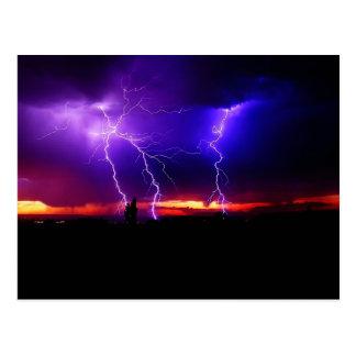 lighting bolts postcard