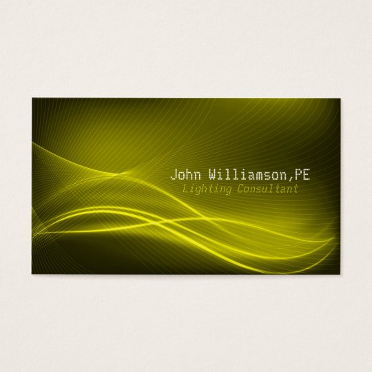 Lighting Consultant Business Card