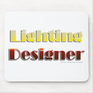 Lighting Designer Text Only Mouse Pad