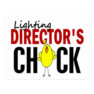 LIGHTING DIRECTOR'S CHICK POSTCARD