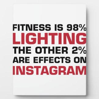 Lighting & Instagram Plaque