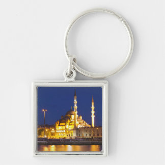 lighting Istanbul after sunset, evening, Turkey Keychain