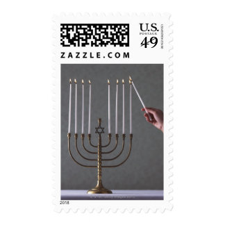 Lighting Menorah Stamp