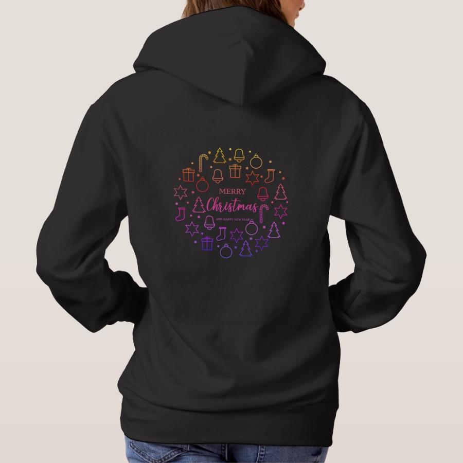 Lighting Merry Christmas Hoodie - Creative Long-Sleeve Fashion Shirt Designs