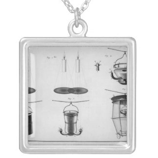 Lighting of a big city silver plated necklace
