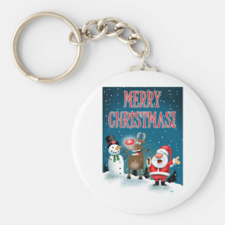 Lighting Red Noses Keychain